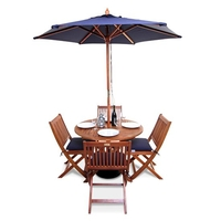 BillyOh Windsor 1.0m Round Dining Set - 2 or 4 Seat Set with Chairs - Folding Chair x 4