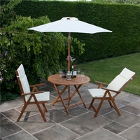 BillyOh Windsor 1.0m Round Dining Set - 2 or 4 Seat Set with Chairs - Recliner Chair x 2