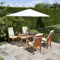 Garden Furniture  - BillyOh Windsor 1.2-1.6m Rectangular Dining Set - 4 or 6 Seat Set with Chairs - Armchair x 4