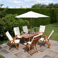 BillyOh Windsor 1.2-1.6m Rectangular Dining Set - 4 or 6 Seat Set with Chairs - Recliner Chair x 6