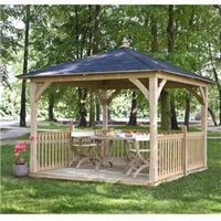 Arbours & Gazebos  - Canopy and Floor 11 x 11