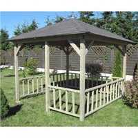 Arbours & Gazebos  - Canopy, Floor and Balustrade 11 x 11