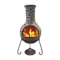 Garden Equipment  - Cantera Brown Clay Chiminea - Large