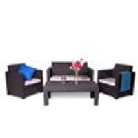 Garden Furniture  - Keter Limousine Rattan Style 4 Seat Garden Furniture Lounge Set