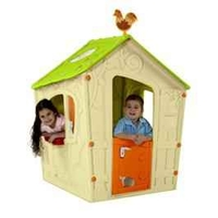 Toys & Equipment for Playing Outdoors  - Keter Magic Cream and Green Childrens Plastic Playhouse