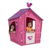 Toys & Equipment for Playing Outdoors  - Keter Magic Pink and Purple Childrens Plastic Playhouse