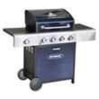 Barbecues & Accessories  - Outback Blue Meteor 4 Burner Gas BBQ Barbecue