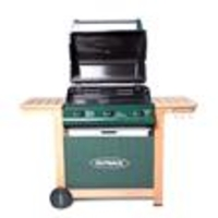 Garden Houses & Buildings  - Outback Hunter 3 Burner Hooded Gas Barbecue - With Hose and Regulator