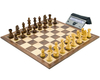 DGT Kramnik Folding Chess Board,  Pieces and Clock Gift Set