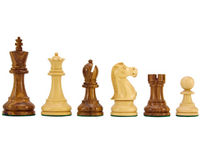 Chess  - Jacob Knight Golden Rosewood Staunton Chess Pieces 3.75 Inches