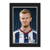 Arsenal London|Other English Clubs Personalised West Brom Brunt Autograph Photo - Presentation Folder