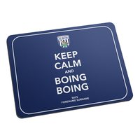 Mousepads|Other English Clubs  - Personalised West Brom Keep Calm and Boing Boing Mouse Mat