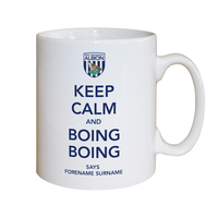 Cups & Mugs|Other English Clubs  - Personalised West Brom Keep Calm Mug