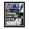 Personalised West Brom Newspaper - Contemporary Frame
