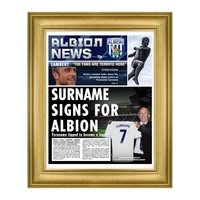 Other English Clubs  - Personalised West Brom Newspaper - Deluxe Frame