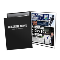 Other English Clubs  - Personalised West Brom Newspaper - Presentation Folder