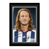 Arsenal London|Other English Clubs Personalised West Brom Olsson Autograph Photo - Mounted & Framed