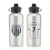 Aston Villa|Other English Clubs Personalised West Bromwich Albion Aluminium Water Bottle (600ml) - Silver