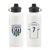 Personalised West Bromwich Albion Aluminium Water Bottle (600ml) - White