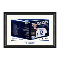 Photography, Prints & Posters|Other English Clubs  - Personalised West Bromwich Albion Match Day Programme