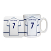 Personalised West Bromwich Albion Shirt Number Coaster & Mug Set