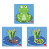 3 Levels Wooden Puzzle: Frog