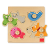 Domestic Animals Wooden Peg Puzzle