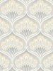 A Shade Wilder Pavonis Feather Wallpaper Mothball 300080