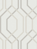 Artemis Geometric Wallpaper Mocha Arthouse 891901