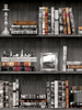 Bookcases Wallpaper Black Holden 11951