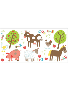 Other Toys  - Farm Animals Wall Stickers - 25 Pieces