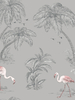 Flamingo Lake Wallpaper Grey Holden 12381