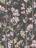 Floral Charm Hummingbird Wallpaper Black Holden 12393