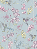 Floral Charm Hummingbird Wallpaper Duck Egg Holden 12391