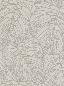 Home & Garden|Wallpaper|Arsenal London  - Leaf Pattern Wallpaper Pale Grey and Silver Rasch 609332