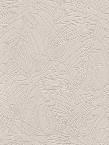 Home & Garden|Wallpaper|Arsenal London  - Leaf Pattern Wallpaper Pale Taupe and Silver Rasch 609349