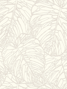 Home & Garden|Wallpaper|Arsenal London  - Leaf Pattern Wallpaper White and Silver Rasch 609325