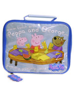 Peppa Pig & George Deluxe Rectangular Insulated Lunch Box Bag