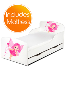 PriceRightHome Fairy Dust Toddler Bed with Underbed Storage plus Fully