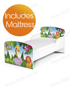 PriceRightHome Jungle Exclusive Design Toddler Bed with Deluxe Foam