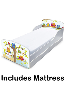 PriceRightHome Owls Toddler Bed with Underbed Storage and Deluxe Foam