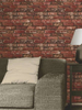 Red Brick Effect Wallpaper Fine Decor FD31285