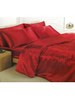 Red Satin Super King Duvet Cover,  Fitted Sheet and 4 Pillowcases