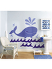 Wallies Big Murals - Whimsical Whale Wall Stickers
