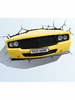 Yellow Muscle Car 3D LED Wall Light