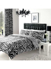 Zebra and Leopard Print Double Reversible Duvet Cover Set