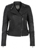 Muubaa Abila Leather Quilted Jacket in Black