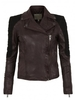 Women's|Leather Jackets & Coats|Leather Trousers Muubaa Xera Leather & Suede Quilted Biker Jacket in Marron & Black
