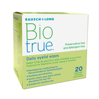 Contact lenses  - Biotrue Daily Eyelid Wipes (20 wipes)