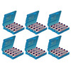 7dayshop AA / AAA Battery Storage Case - Blue - Special Extra Value 6 Pack